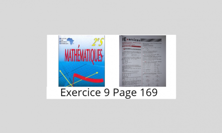 Exercice 9 Page 169 Ciam 2nde S