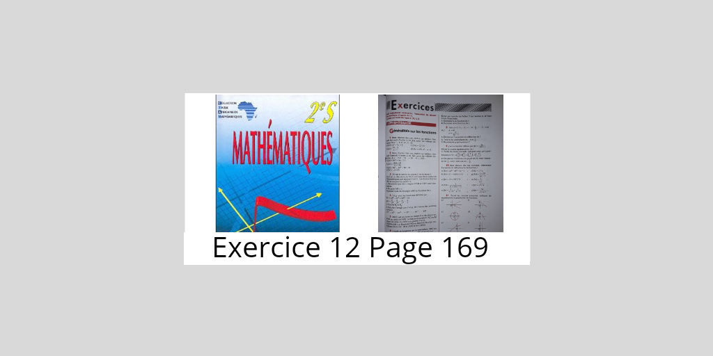Exercice 12 Page 169 Ciam 2nde S