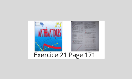 Exercice 21 Page 171 Ciam 2nde S