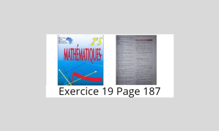 Exercice 19 Page 187 Ciam 2nde S
