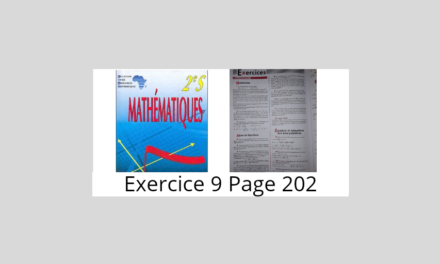 Exercice 9 page 202 ciam 2nde S