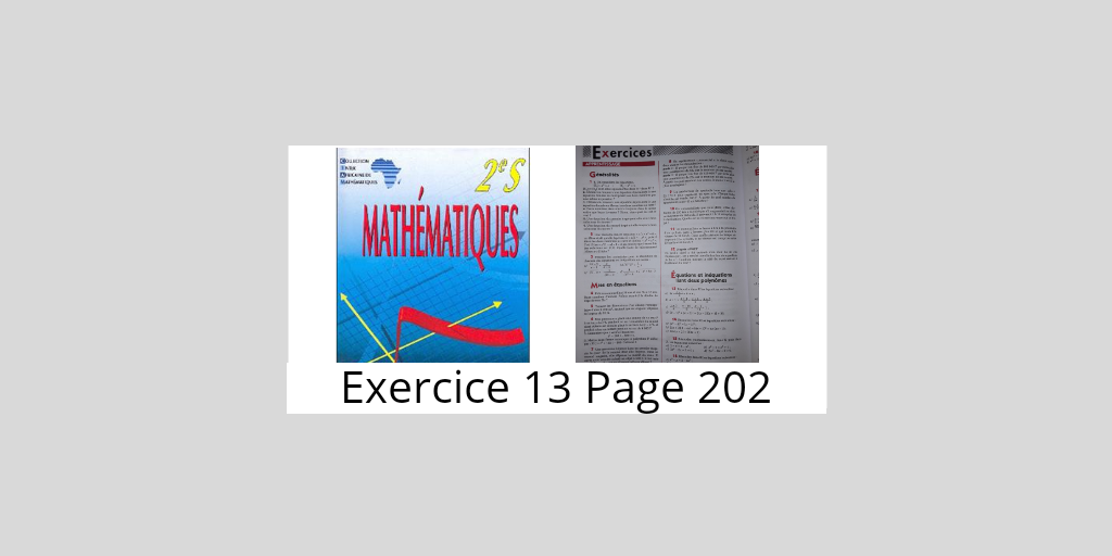 Exercice 13 page 202 ciam 2nde S
