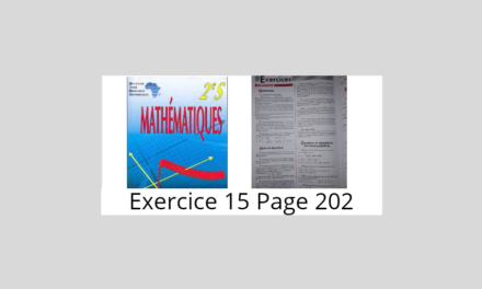 Exercice 15 page 202 ciam 2nde S