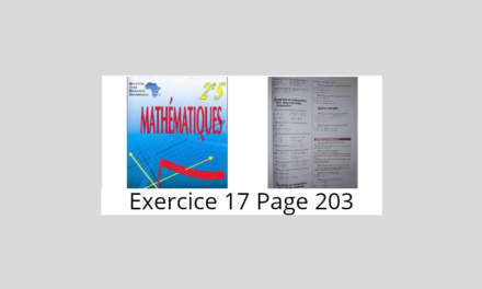 Exercice 17 page 203 ciam 2nde S