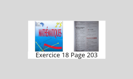 Exercice 18 page 203 ciam 2nde S