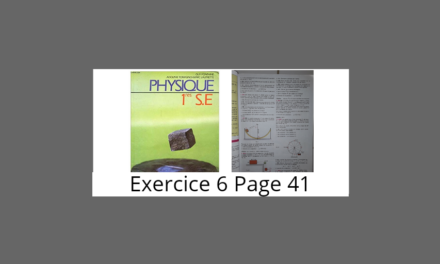 Exercice 6 page 41 Tomasino Physique 1ère S