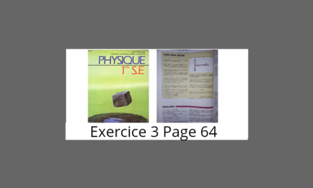 Exercice 3 page 64 Tomasino Physique 1ère S